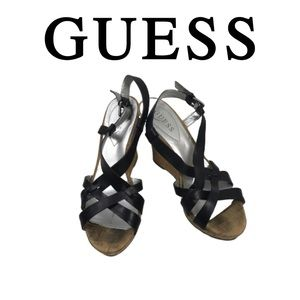 Guess Wedge Sandals. Sz 9